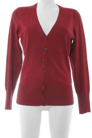 Taifun Cardigan tricotés rouge carmin style décontracté
