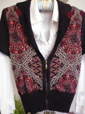 Taifun Knitted Vest dark red-black brown mixture fibre