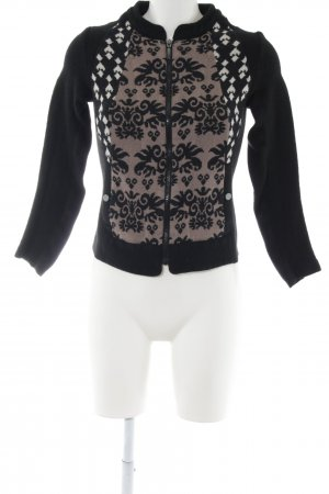 Taifun Strickjacke grafisches Muster Casual-Look