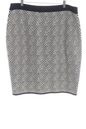 Taifun Gonna lavorata a maglia nero-beige chiaro motivo astratto stile casual