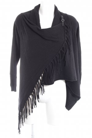 Taifun Knitted Wrap Cardigan black casual look