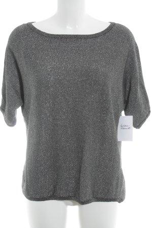 Taifun T-Shirt dunkelgrau Glitzer-Optik