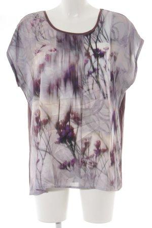 Taifun T-Shirt graulila-helllila florales Muster Casual-Look