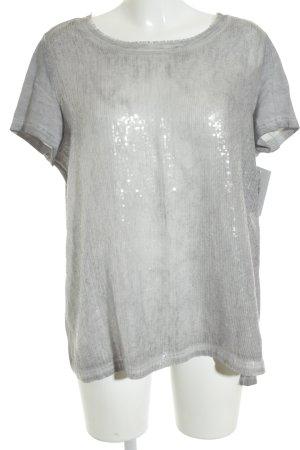 Taifun T-Shirt hellgrau-silberfarben Farbverlauf Glitzer-Optik