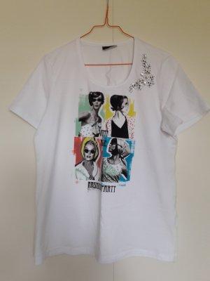 Taifun T-Shirt mit Print und Strassapplikation weiß bunt Gr. L