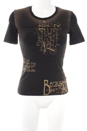Taifun T-Shirt Schriftzug gedruckt Casual-Look
