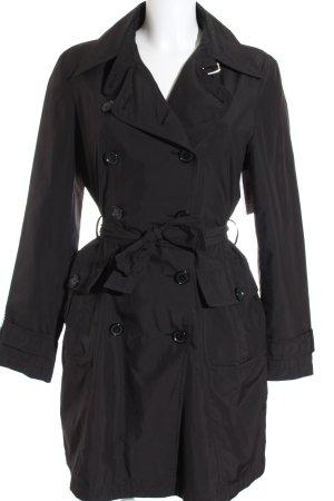 Taifun Trenchcoat schwarz klassischer Stil