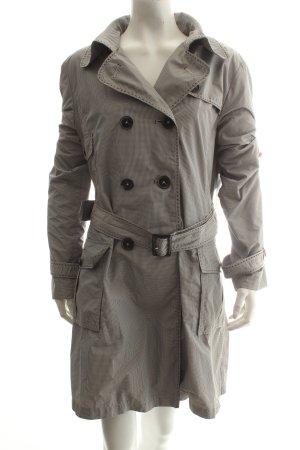 Taifun Trenchcoat schwarz-weiß Karomuster Eleganz-Look