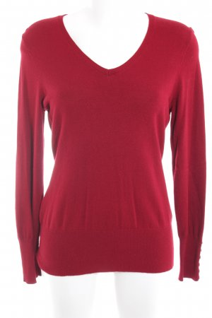 Taifun V-Neck Sweater dark red simple style