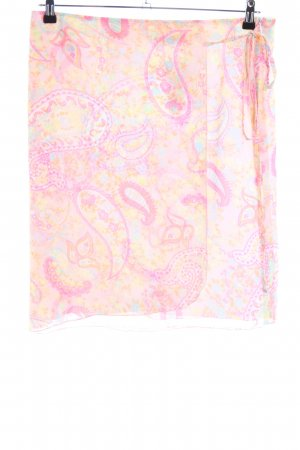 Taifun Wickelrock pink-blassgelb abstraktes Muster Casual-Look