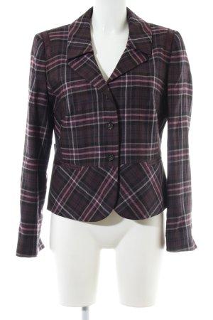 Taifun Blazer en laine brun-rose motif à carreaux style classique