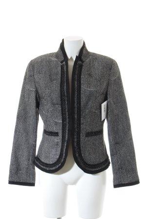Taifun Wollen blazer zwart-wit gestippeld elegant