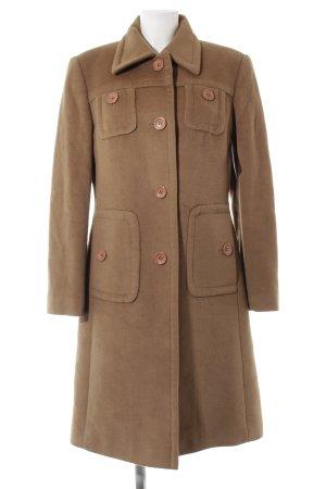 Taifun Cappotto in lana marrone stile casual