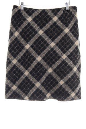 Taifun Wool Skirt black-beige check pattern classic style