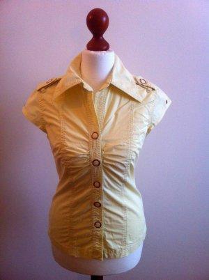 tailierte, sonnengelbe, ausgefallene Bluse von Blend, LETZTE REDUZIERUNG