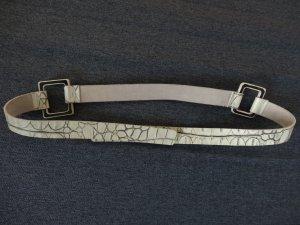 Taillen- bzw Hüftgürtel von Alberta Ferretti mit Reptilprägung und Dornschließe