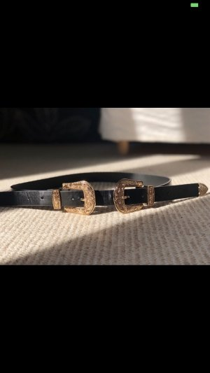 Waist Belt black-gold-colored