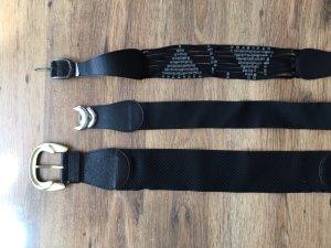 Pieces Tailleriem zwart-zilver