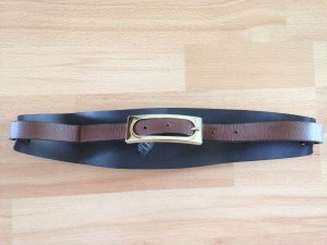 Massimo Dutti Belt brown leather