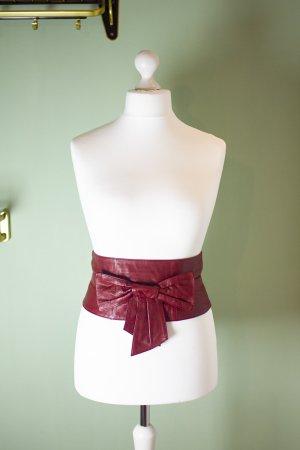 Apart Cinturón rojo oscuro Cuero