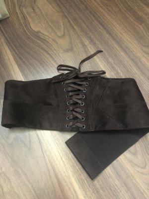 Orsay Cinturón de cadera marrón-color plata