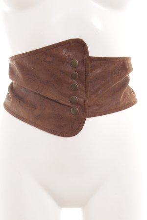 Waist Belt brown embellished pattern Logo Application