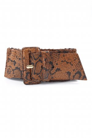 Waist Belt brown-black animal pattern extravagant style