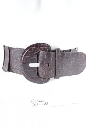 Cintura vita marrone-viola-marrone stampa rettile