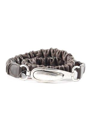 Cinturón pélvico marrón oscuro estilo clásico