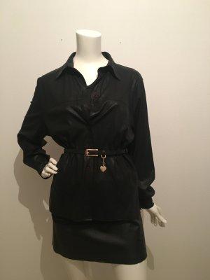 Cinturón pélvico negro-color oro Imitación de cuero