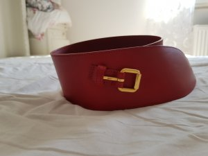 HUGO Hugo Boss Leather Belt red leather