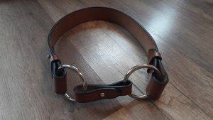 Taillengürtel Leder Doppelschnalle Ringe Hippie Boho S/M