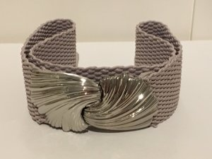 H&M Waist Belt silver-colored-grey brown