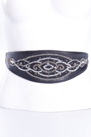 Waist belt with pearl embroidery