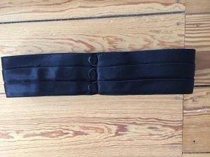 Taillengürtel, schwarz, Satin, glänzend, mit Knöpfen
