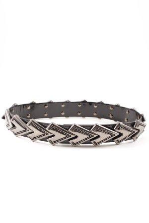 Tailleriem zwart-zilver extravagante stijl