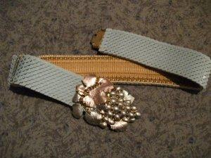 Vintage Belt azure-gold-colored