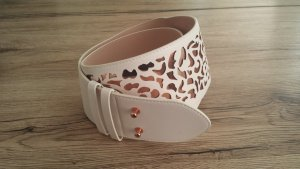 H&M Cintura vita bianco-color oro rosa