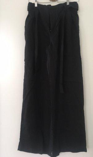 Mango Pantalón de lino negro
