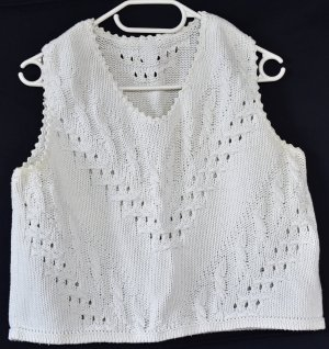Knitted Top natural white cotton