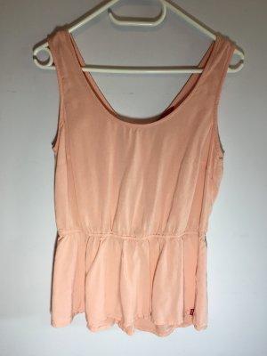 edc Mouwloze blouse abrikoos