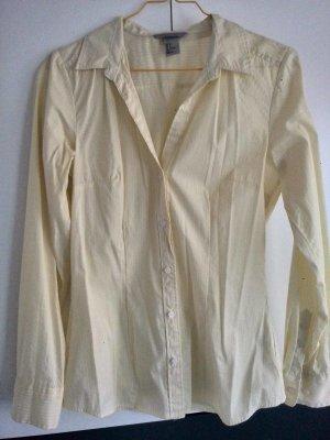 Taillierte Bluse Gelb-Weiß gestreift