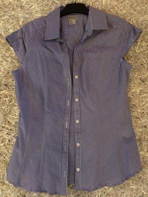 Taillierte Bluse in Blau Weißem Marine Look