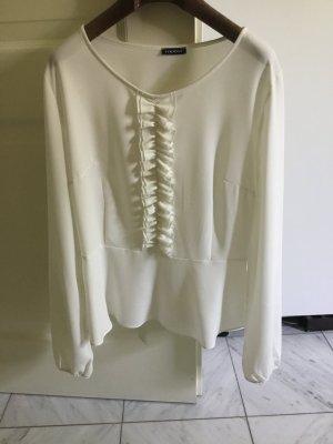 Taillierte Bluse mit Rüschen Größe 40