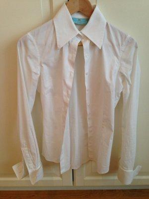 Taillierte Bluse mit Stretch und Manchetten, Gr. 36