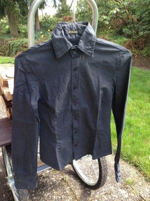 Taillierte Bluse, schwarz, Größe 34/36