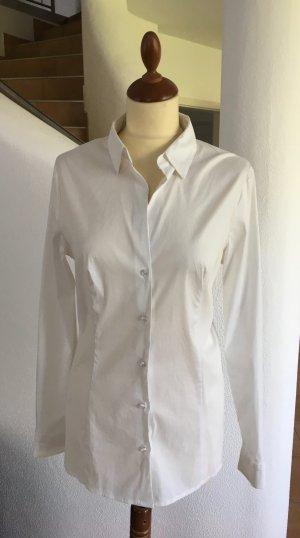 Taillierte Business-Bluse mit offenem Kragen, Baumwoll-Stretch von Esprit Gr. 40