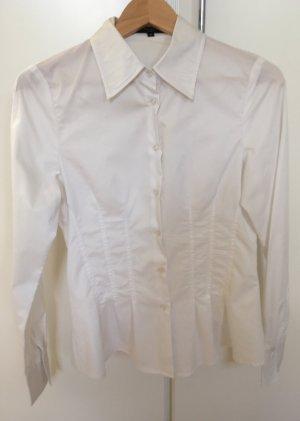 Taillierte Business-Bluse, weiß, von Hallhuber