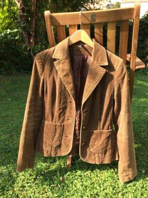 Taillierte Cordjacke mit Taschen
