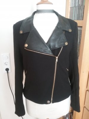 Taillierte Jacke mit Gold- und Lederapplikationen